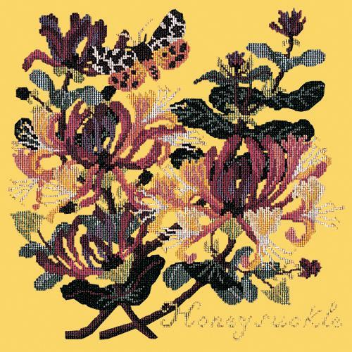 Honeysuckle Needlepoint Kit Elizabeth Bradley Design Sunflower Yellow