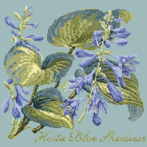 Hosta Blue Shadows Needlepoint Kit Elizabeth Bradley Design Pale Blue