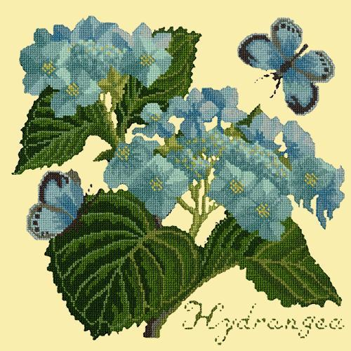 Hydrangea Needlepoint Kit Elizabeth Bradley Design Butter Yellow