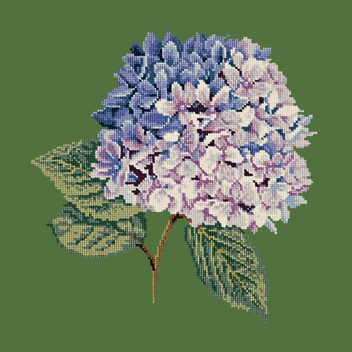 Hydrangea Needlepoint Kit Elizabeth Bradley Design Dark Green