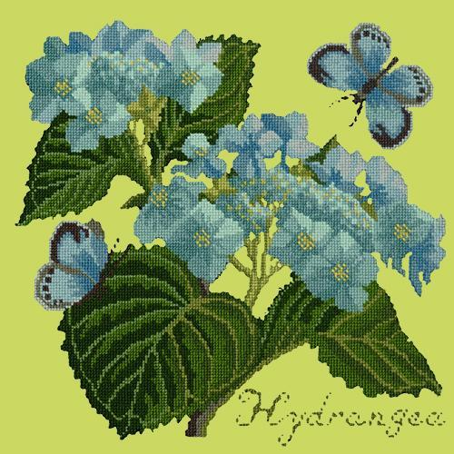 Hydrangea Needlepoint Kit Elizabeth Bradley Design Pale Lime