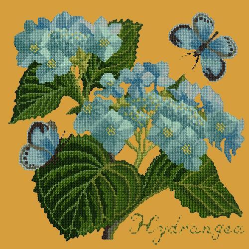 Hydrangea Needlepoint Kit Elizabeth Bradley Design Yellow