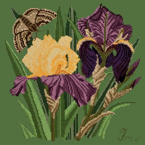 Iris Needlepoint Kit Elizabeth Bradley Design Dark Green