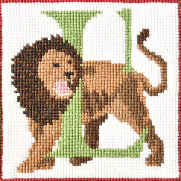 L-Lion Needlepoint Kit Elizabeth Bradley Design