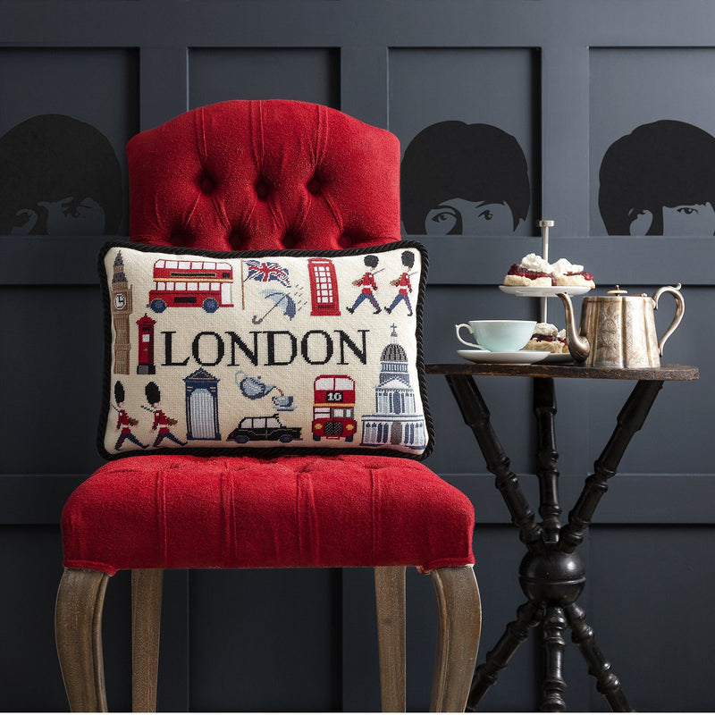 London Pillow Needlepoint Kit Elizabeth Bradley Design