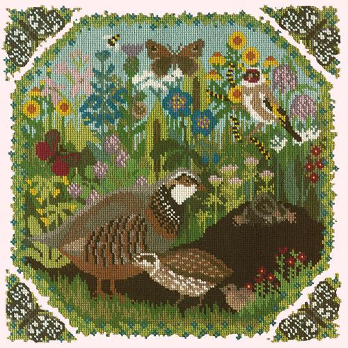 Meadow Needlepoint Kit Elizabeth Bradley Design Cream