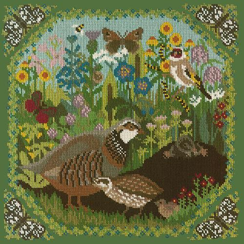Meadow Needlepoint Kit Elizabeth Bradley Design Dark Green