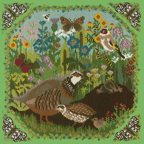Meadow Needlepoint Kit Elizabeth Bradley Design Grass Green