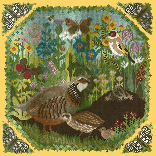 Meadow Needlepoint Kit Elizabeth Bradley Design Sunflower Yellow