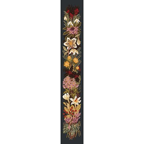 Midwinter Bell Pull Needlepoint Kit Elizabeth Bradley Design Black