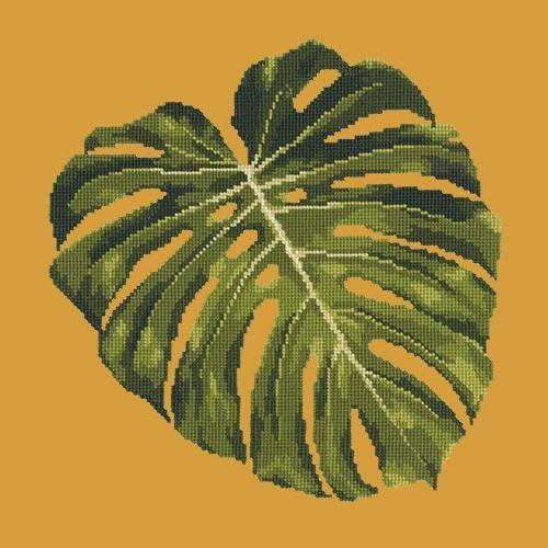 Monstera Leaf Needlepoint Kit Elizabeth Bradley Design Yellow