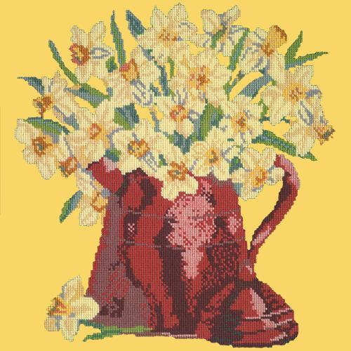 Narcissi Pot Needlepoint Kit Elizabeth Bradley Design Sunflower Yellow