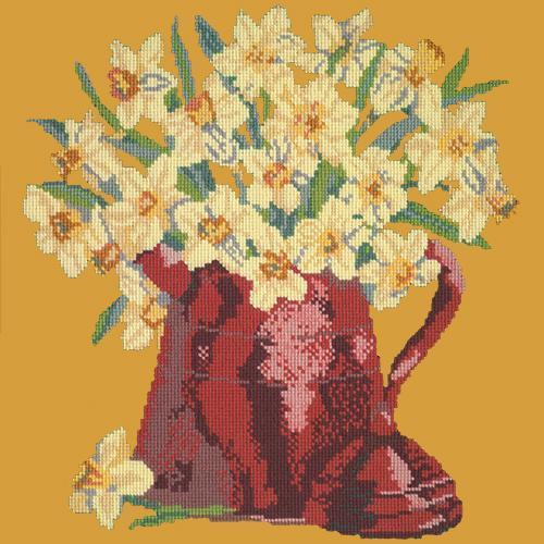 Narcissi Pot Needlepoint Kit Elizabeth Bradley Design Yellow