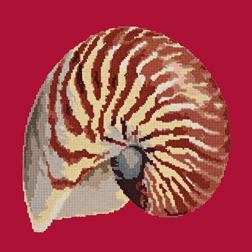 Nautilus Needlepoint Kit Elizabeth Bradley Design Bright Red