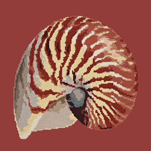 Nautilus Needlepoint Kit Elizabeth Bradley Design Dark Red