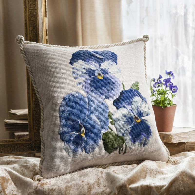 Pansies Needlepoint Kit Elizabeth Bradley Design