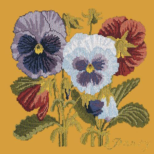 Pansy Needlepoint Kit Elizabeth Bradley Design Yellow