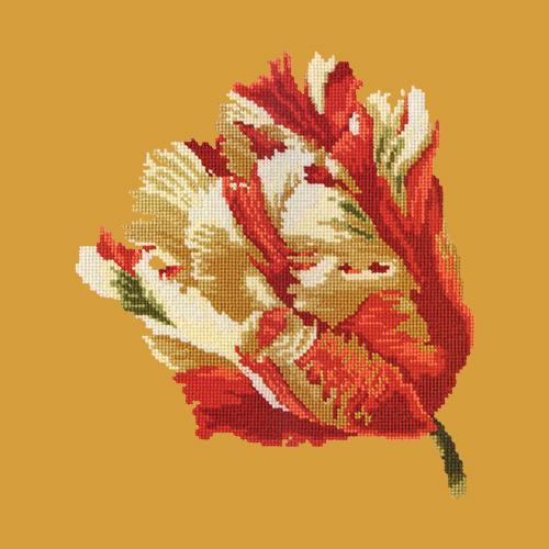 Parrot Tulip Needlepoint Kit Elizabeth Bradley Design Yellow
