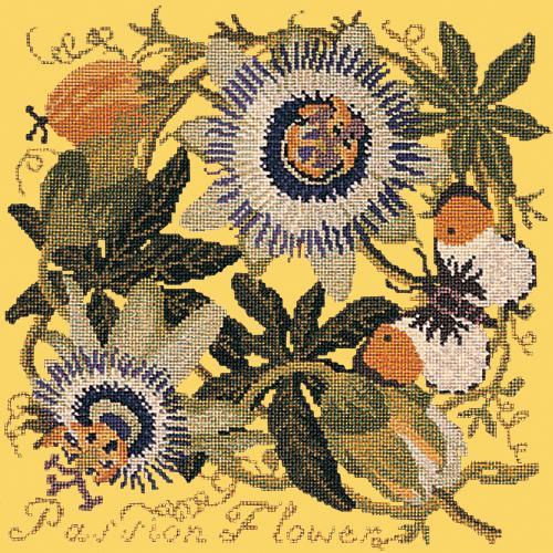 Passion Flower Needlepoint Kit Elizabeth Bradley Design Sunflower Yellow