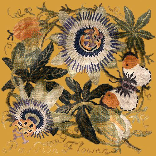 Passion Flower Needlepoint Kit Elizabeth Bradley Design Yellow