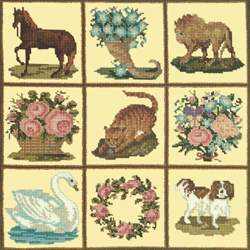 Patchwork Pieces Needlepoint Kit Elizabeth Bradley Design Butter Yellow