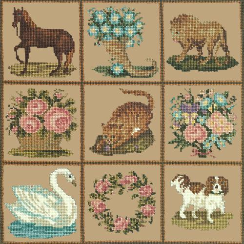 Patchwork Pieces Needlepoint Kit Elizabeth Bradley Design Sand