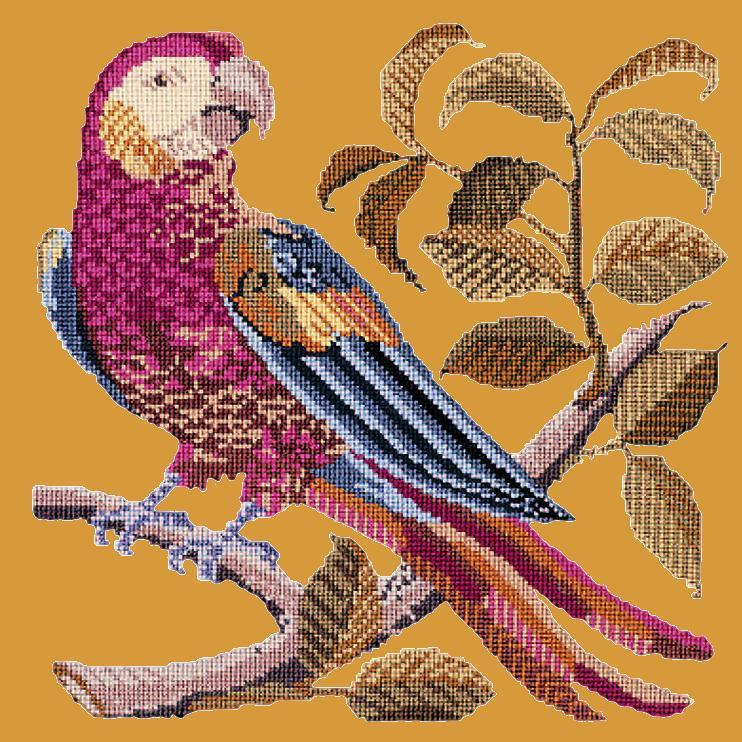 Pete the Parrot Needlepoint Kit Elizabeth Bradley Design Yellow
