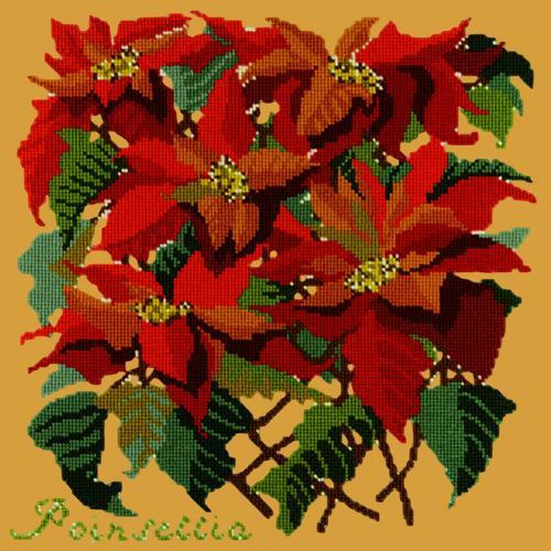 Poinsettia Needlepoint Kit Elizabeth Bradley Design Yellow
