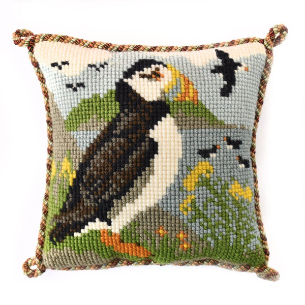 Puffins Mini Kit Needlepoint Kit Elizabeth Bradley Design