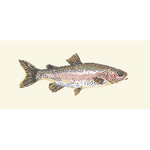 Rainbow Trout Needlepoint Kit Elizabeth Bradley Design Winter White
