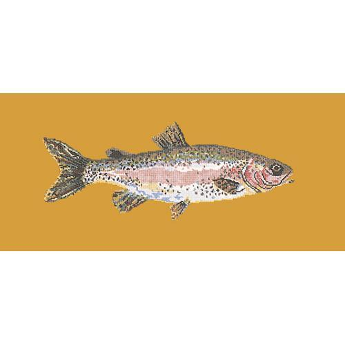 Rainbow Trout Needlepoint Kit Elizabeth Bradley Design Yellow