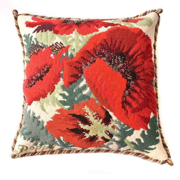 Red Poppy Needlepoint Kit Elizabeth Bradley Design