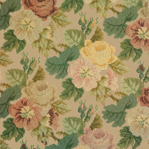 Repeating Roses Needlepoint Kit Elizabeth Bradley Design Sand
