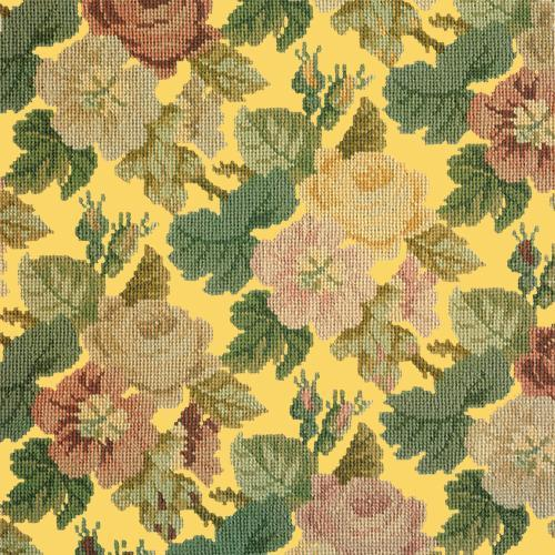 Repeating Roses Needlepoint Kit Elizabeth Bradley Design Sunflower Yellow