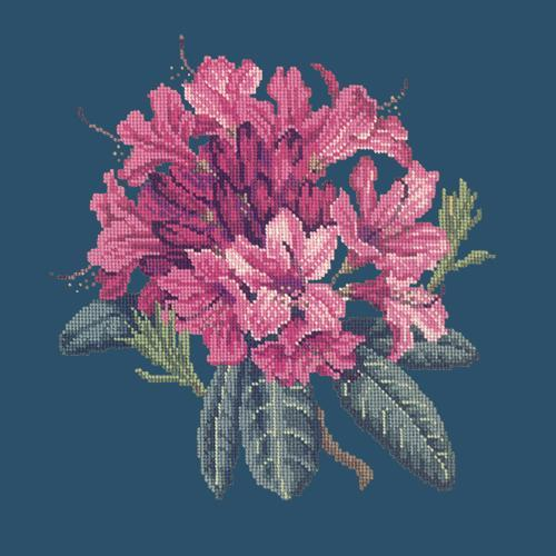 Rhododendron Needlepoint Kit Elizabeth Bradley Design Dark Blue