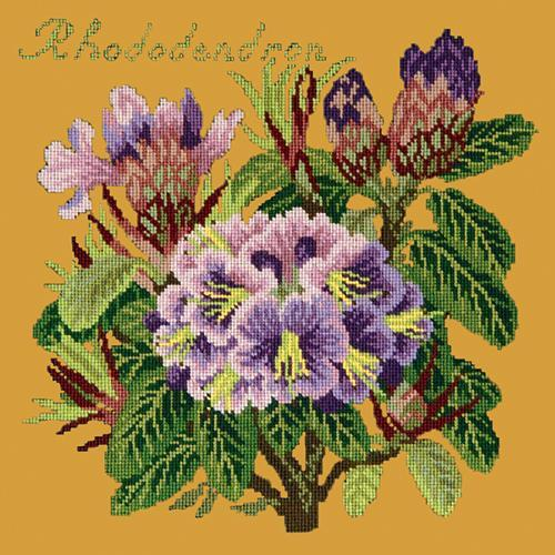 Rhododendron Needlepoint Kit Elizabeth Bradley Design Yellow