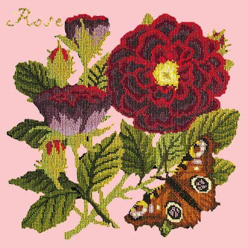 Rose Needlepoint Kit Elizabeth Bradley Design Pale Rose