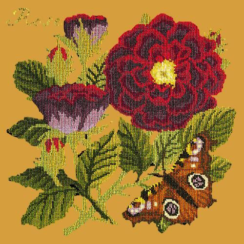 Rose Needlepoint Kit Elizabeth Bradley Design Yellow