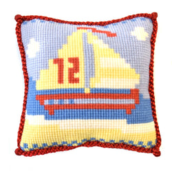 Sailboat Needlepoint Kit Elizabeth Bradley Design