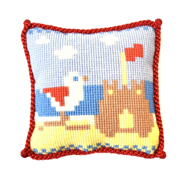 Sand Castle Needlepoint Kit Elizabeth Bradley Design
