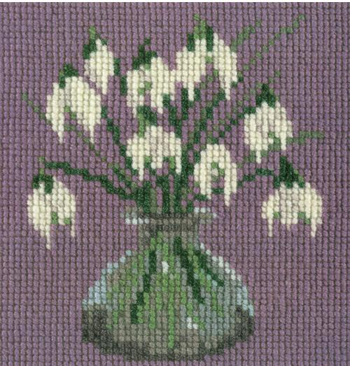 Snowdrops Mini Kit Needlepoint Kit Elizabeth Bradley Design