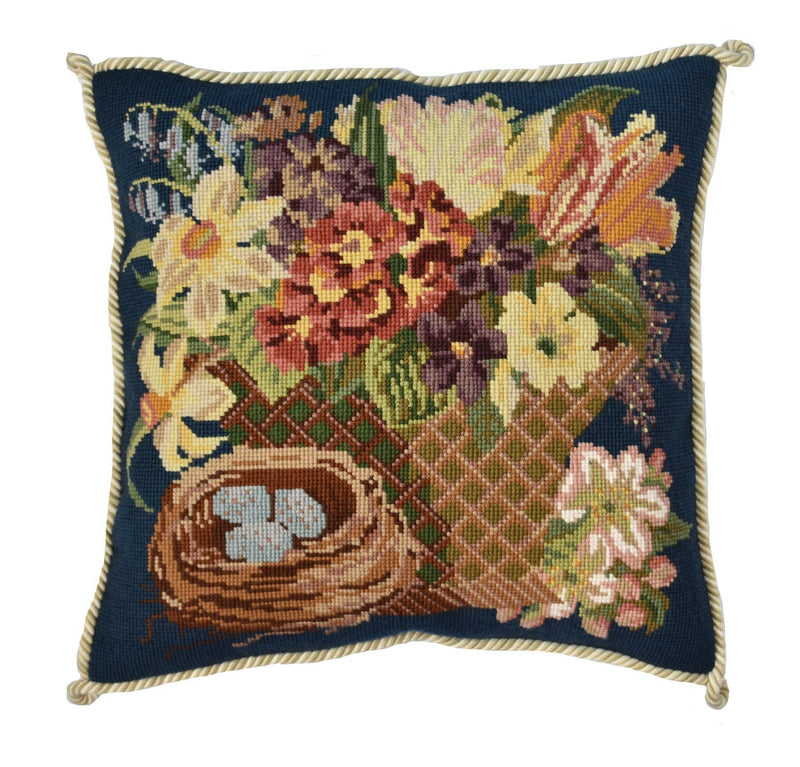 Spring Basket Needlepoint Kit Elizabeth Bradley Design