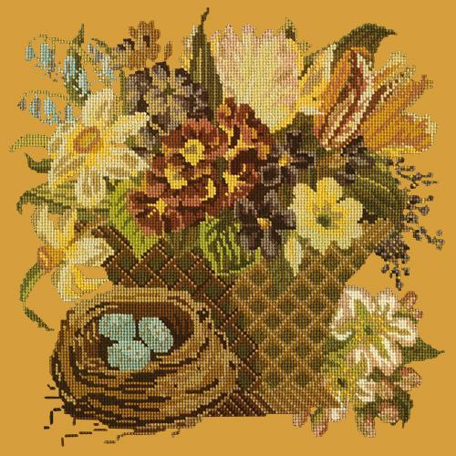 Spring Basket Needlepoint Kit Elizabeth Bradley Design Yellow