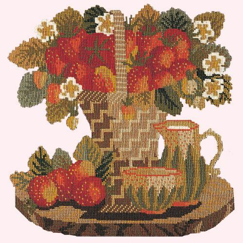 Strawberries Needlepoint Kit Elizabeth Bradley Design Cream
