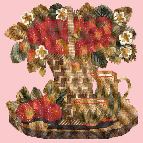 Strawberries Needlepoint Kit Elizabeth Bradley Design Pale Rose