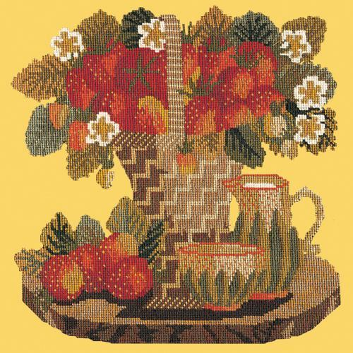 Strawberries Needlepoint Kit Elizabeth Bradley Design Sunflower Yellow