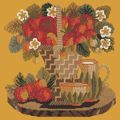 Strawberries Needlepoint Kit Elizabeth Bradley Design Yellow