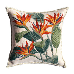 Strelitzia (Bird of Paradise) Needlepoint Kit Elizabeth Bradley Design