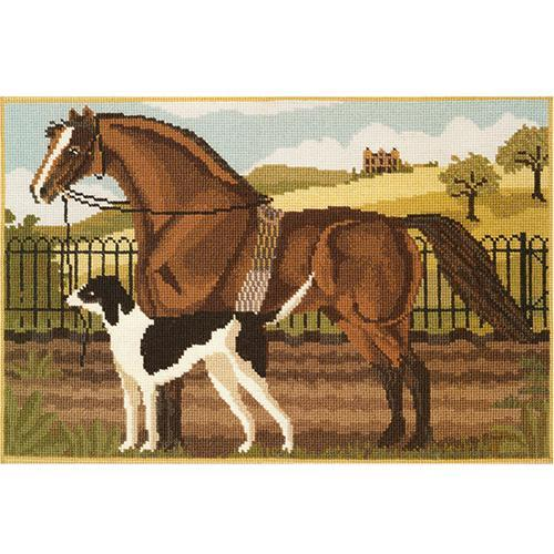 Suffolk Punch and Hound Needlepoint Kit Elizabeth Bradley Design