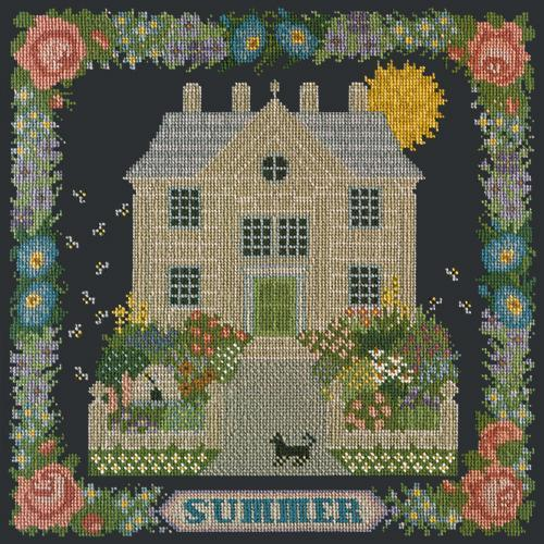 Summer Sampler Needlepoint Kit Elizabeth Bradley Design Black